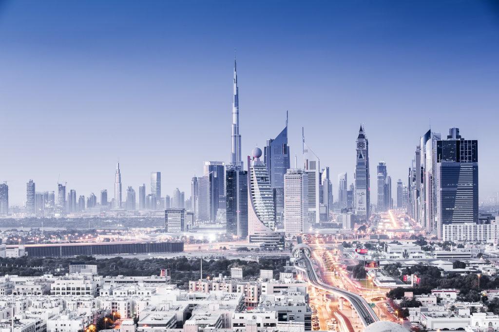 Park Regis Kris Kin Hotel in Dubai und bietet einen spektakulären Ausblick auf die Skyline Dubais