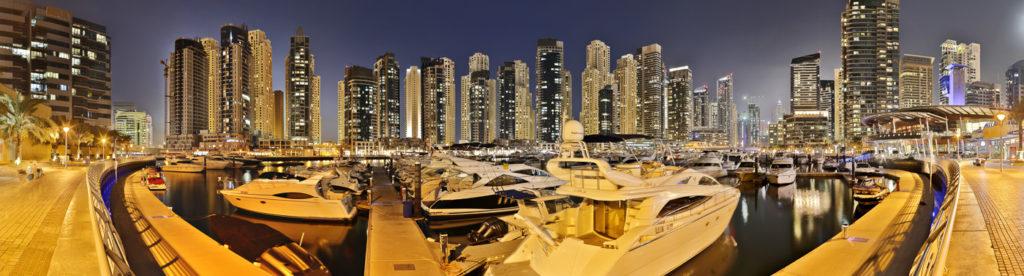 Dubai Marina bietet Atmosphäre