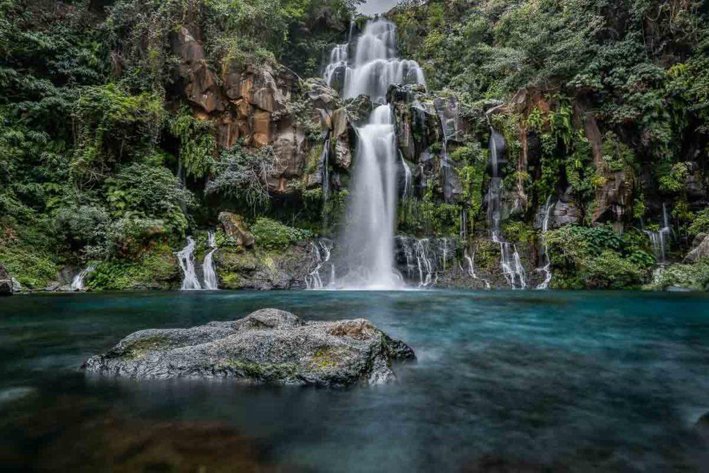 La Réunion, Réunion, Frankreich, Indischen Ozean, Wasser, Wasserfall, Bassin Cormoran,