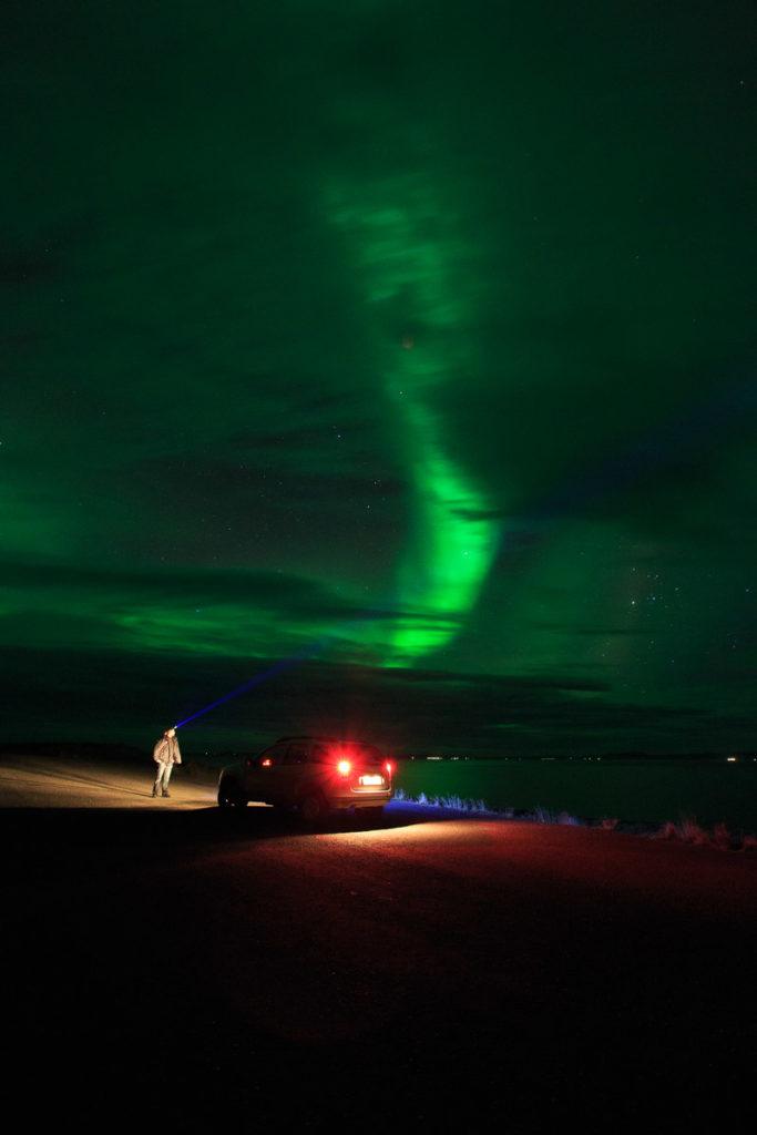 Polarlichter um Húsavík